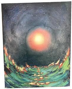 "SCOTT JACOBS (AMERICAN, 20TH C.) ""SEA SKID"" OIL ON CANVAS"