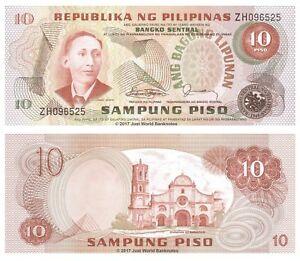 Philippines 10 Piso 1978 P-161c Banknotes UNC