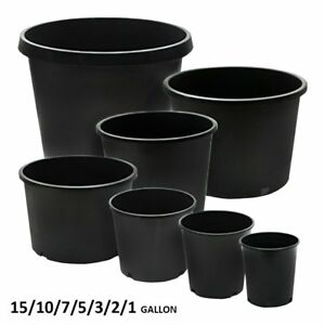 Image Is Loading Calipots 5 Pack Premium Black Nursery Pots Plastic
