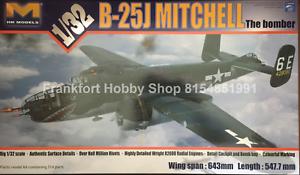 Hong Kong models 1 32 scale B-25-Mitchell glass nose W metal landing gear
