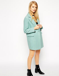 preview of order online best prices Details about ASOS mint green wool coat size 6 NEW