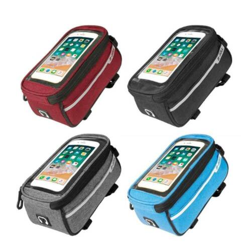 DD Waterproof Mountain Bike Frame Front Bag Bicycle Mobile Phone Holder Pannier