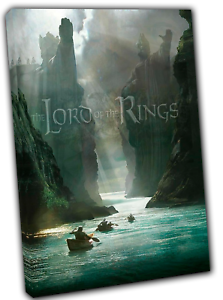 The Lord of The Rings Banner Picture Photo Reprint on Framed Canvas Wall Art