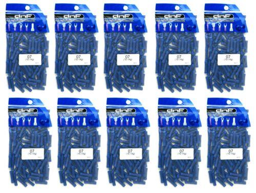 HIGH QUALITY COPPER! 1000 PACK ALARM  BLUE VINYL BUTT CONNECTOR 16-14G CAR