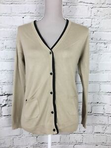 Image is loading Womens-MANGO-Brown-Long-Sleeve-Cardigan-with-Pockets- 27914a99c