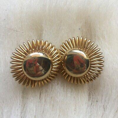Vintage 1970 earrings-clip ons-no stamp