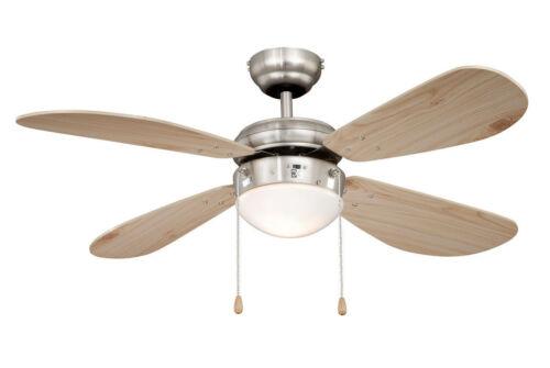 nickel... Ventilateur de plafond avec lumiere AireRyder FN43335 CLASSIC pin