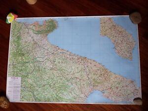 Cartina Igm Puglia.Cartina Cartografica Puglia Calabria Sicilia Altre Varie 1 250 000 Ebay