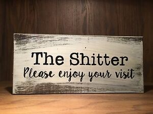 Image Is Loading Bathroom Rustic Wood Sign Farmhouse Style Home Decor