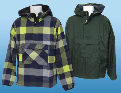 New NIKE Sportswear NSW HOODIE Smock Jacket Reversible Black Check M