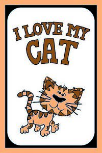 I-Love-My-Cat-Cat-Tin-Sign-Shield-Arched-Metal-Tin-Sign-20-x-30-cm-CC0974