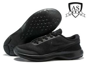 1cdd51b47bc6 Nike Flex Experience RN 7 WIDE 4E Triple Black Men s Running Shoes ...