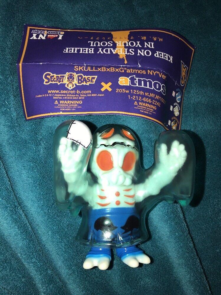 """Secret Base x Atmos NY I Heart Atmos NY Obake Ghost Clear blu SkullxBxBxG""""atmos"""