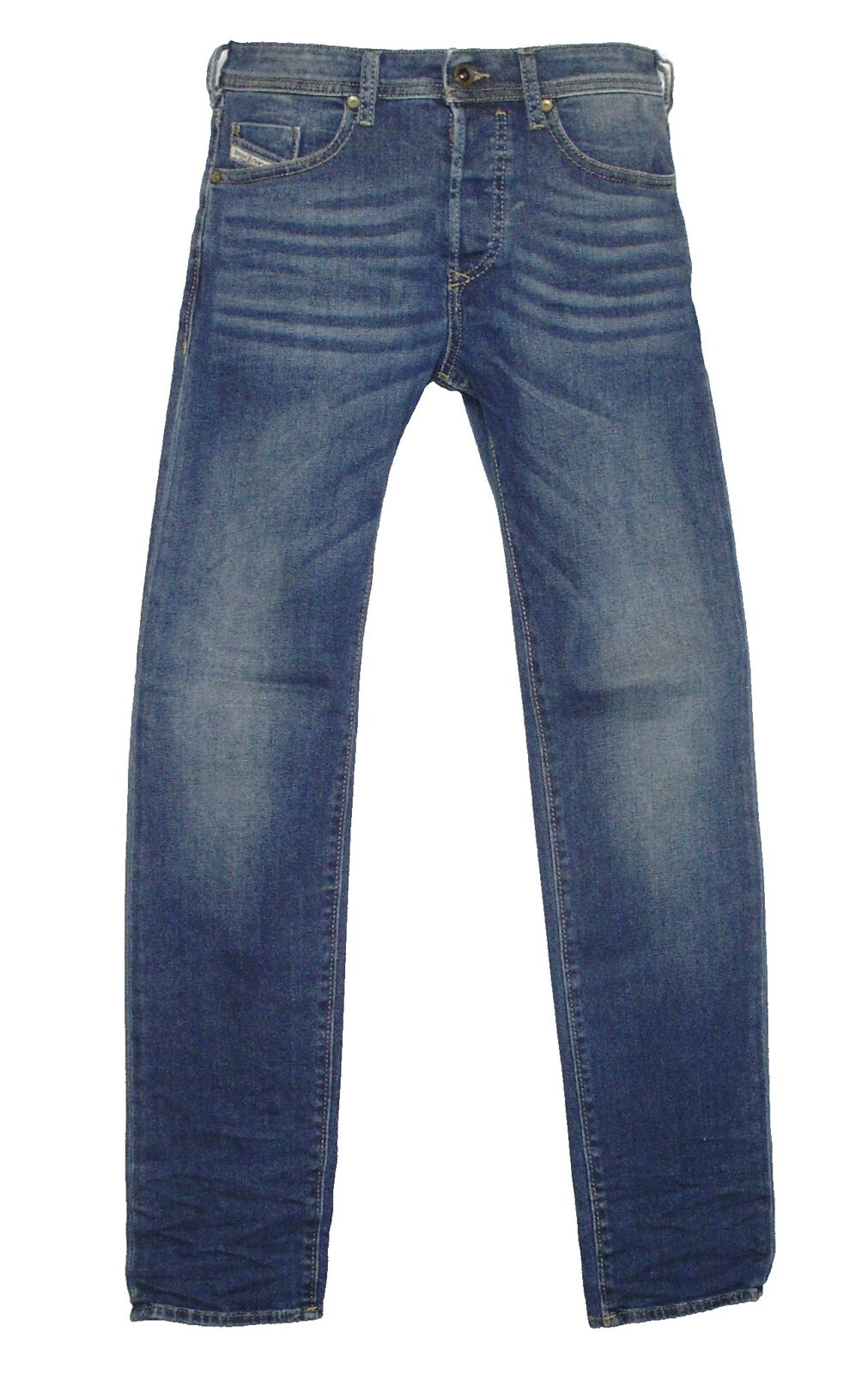 DIESEL Uomo Jeans Stretch Buster 0837i blu colorei attenuati Slim Tg. 29 32 NUOVO