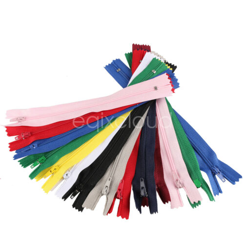 Bulk 30//150//300pcs DIY Nylon Coil Zippers Tailor Sewer Craft 7 Inch Crafter/'s