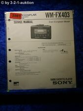 Sony Service Manual WM FX403 Cassette Player  (#3981)