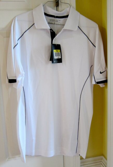 b07ce12c New Men's Nike Golf Tech Core Block White with Black Trim Golf Polo Size  Large