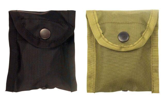 Nylon Compass Pouch - Black, OD Compact Pouches w/ Belt Clip & Snaps