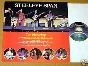 Steeleye-Span-Ten-Man-Mop-039-76-U-K-LP-CLEAN