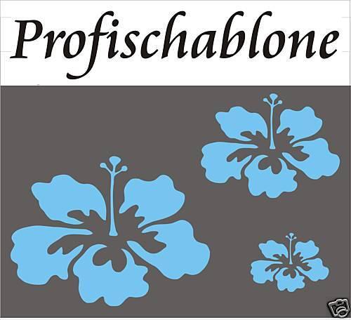 SCHABLONE MALERSCHABLONE DEKORFRIES WANDSCHABLONE STUPFSCHABLONE Hibiskusblüten