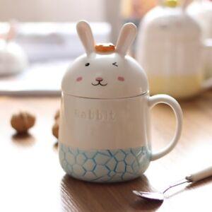 Cartoon-Rabbit-Ceramic-Coffee-Mug-Set-Cute-Milk-Water-Cup-With-Spoon-gift-set