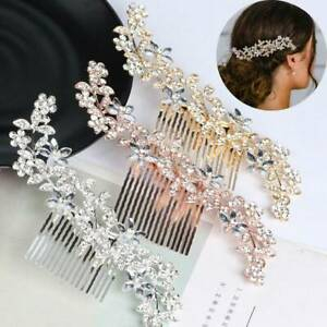 Wedding-Diamante-Crystal-Hair-Comb-Pins-Clips-Flower-Bridal-Hair-Accessories-New