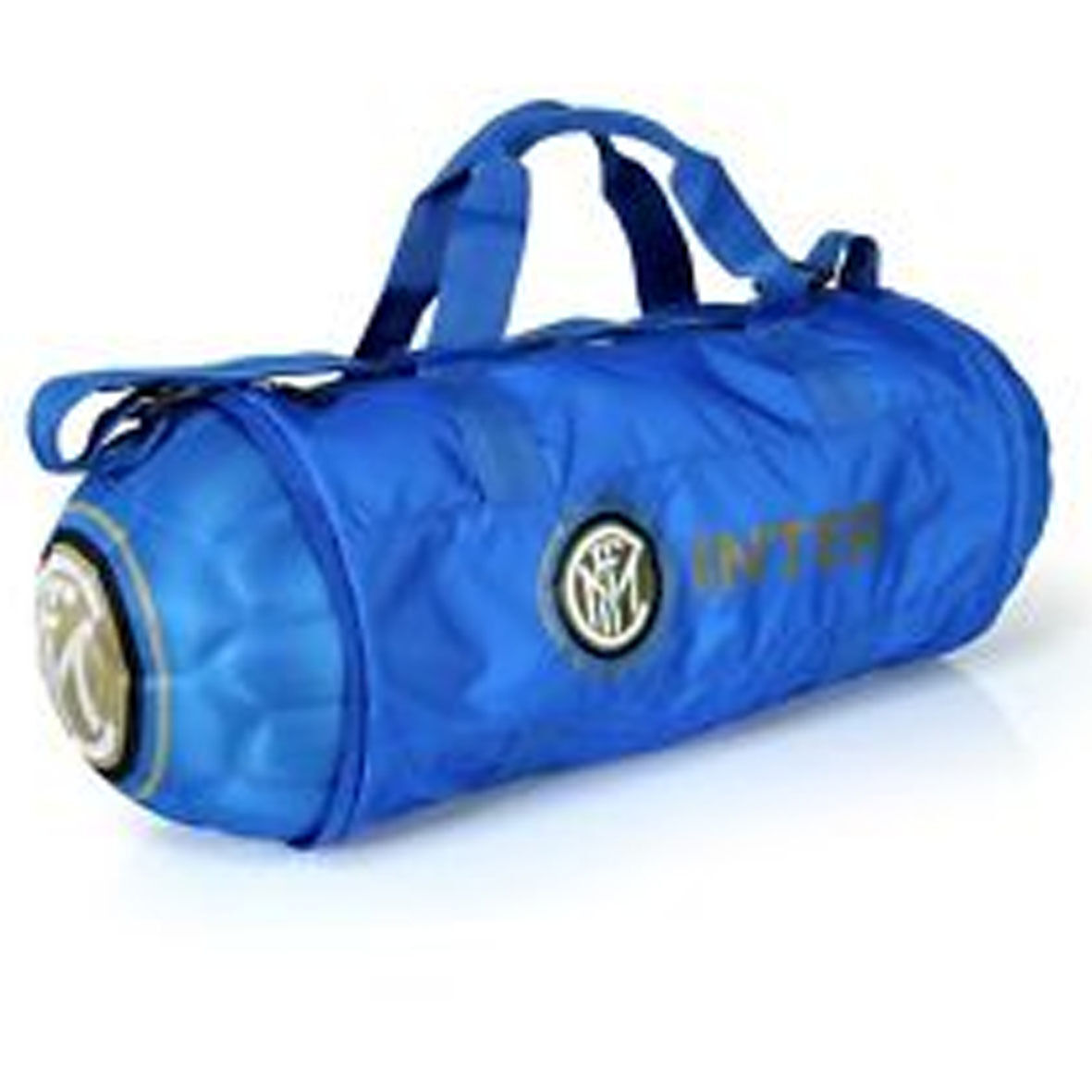 INTER borsone blu sporte tempo libero pieghevole richiudibile con con richiudibile zip a pallone 2386c4