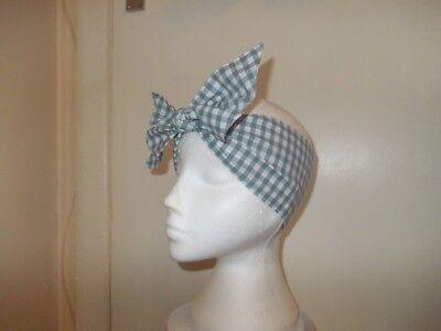 Pink Gingham New Ladies Tie Headwrap// Headband// Bandana PolyCotton