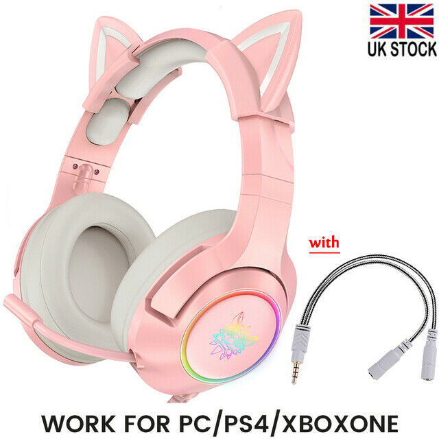 ONIKUMA K9 Cute style Gaming Headset with Mic For PC/Laptop/PS4/Xbox Headphones