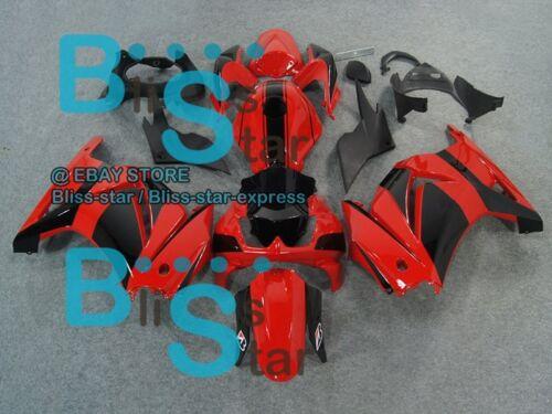 Red Black INJECTION Fairing Tank Cover Set Ninja EX250 250R 2008-2012 104 B4