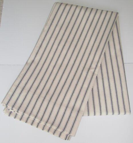 Ballard Designs Navy Blue Ticking Stripe Curtain Drapery Panel Lined 50 x 96