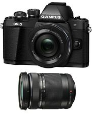 Olympus OM-D E-M10 Mark II Digital Camera w/ 14-42mm IIR & 40-150mm Lenses-Black