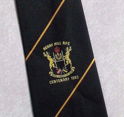 Abile Vintage Rugby Cravatta Da Uomo Cravatta Retro Sport Berry Hill Rfc-mostra Il Titolo Originale Sapore Aromatico