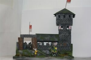 Mittelalter-Ritter-Turmburg-Hulhorst-mit-Haus-3082-zu-7cm-Elastolin-u-a