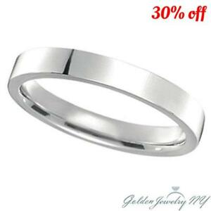 Comfort Fit .925 Sterling Silver Plain Wedding Band Ring All sizes FREE BOX.