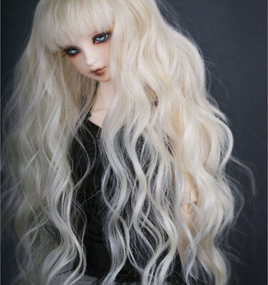"7-8/"" 1//4 BJD Red Brown Long Wig LUTS Doll SD DZ DOD MSD Dollfie Charming Hair L0"