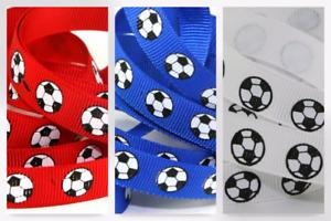 HR1217-12-M Football Print Grosgrain Ribbon
