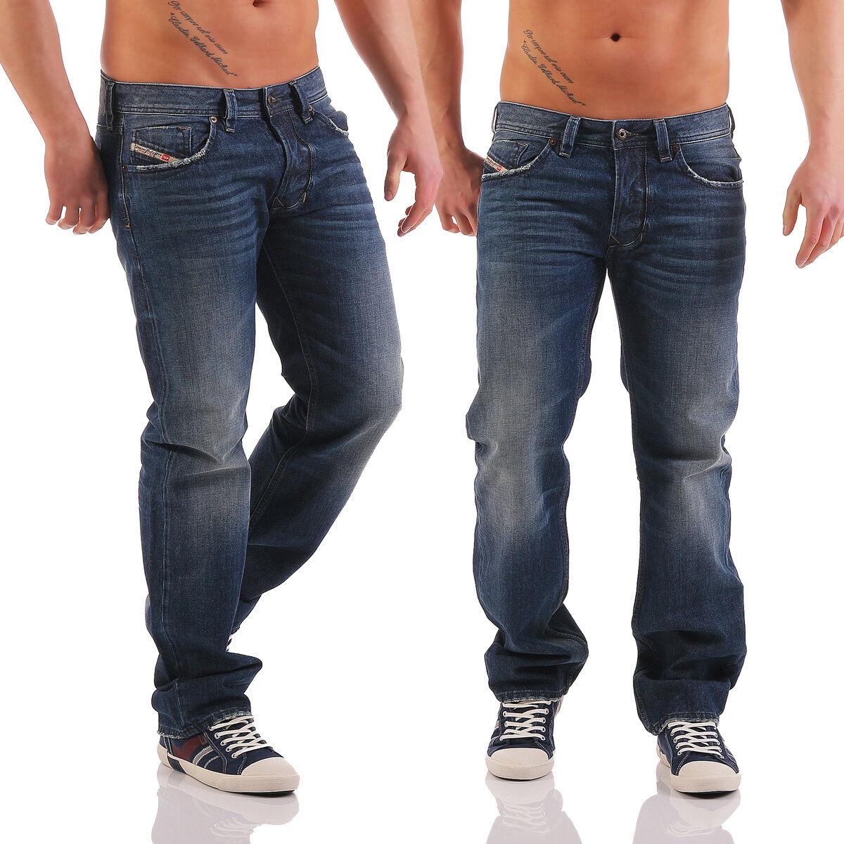 4ffde9013ebb JEANS Larkee 0857h 857h Pantaloni Regular Straight blu Wow Nuovo Uomo DIESEL  nnccex4411-Jeans