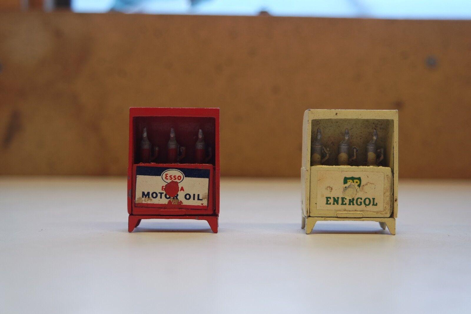 2. jahrgang nähe öl auf druckguss kabinett 1 x bp energol 1 x esso extra