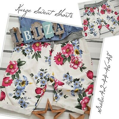 Damen Lässige Sommer Capri Kurze Hose Freizeit Bermuda Tasche Shorts 42 44 46 48