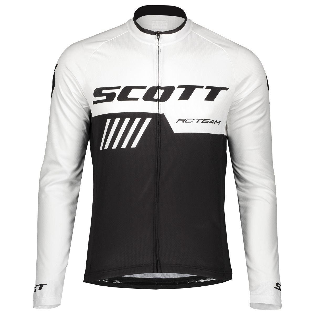Scott RC Team 10 Bicicletta Maglia Lunga BiancoNero 2019