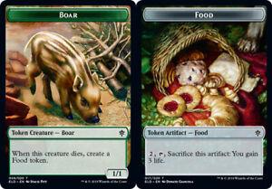4x Boar TokenNM//MThrone of EldraineMagic MTG