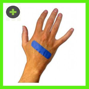 BLUE-BANDAIDS-FOOD-SAFE-DETECTABLE-STRIPS-BREATHABLE-X100-STERILE