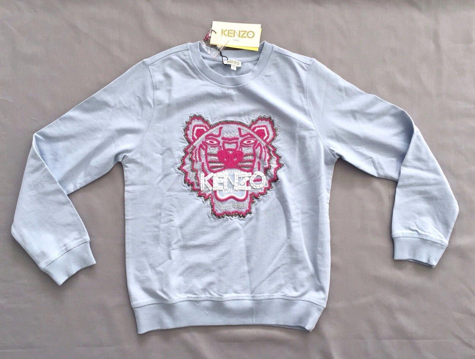 fba8def6b Kenzo Kids Girls Embroidered Pearl Tiger Sweatshirt Sweater 12 13 ...