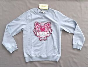 0dd37c1a Image is loading NWT-KENZO-Kids-GIRLS-EMBROIDERED-PEARL-TIGER-SWEATSHIRT-