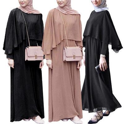 Muslim Women Long Maxi Dress Dubai Kaftan Abaya Party Cocktail Gown Jilbab Robes