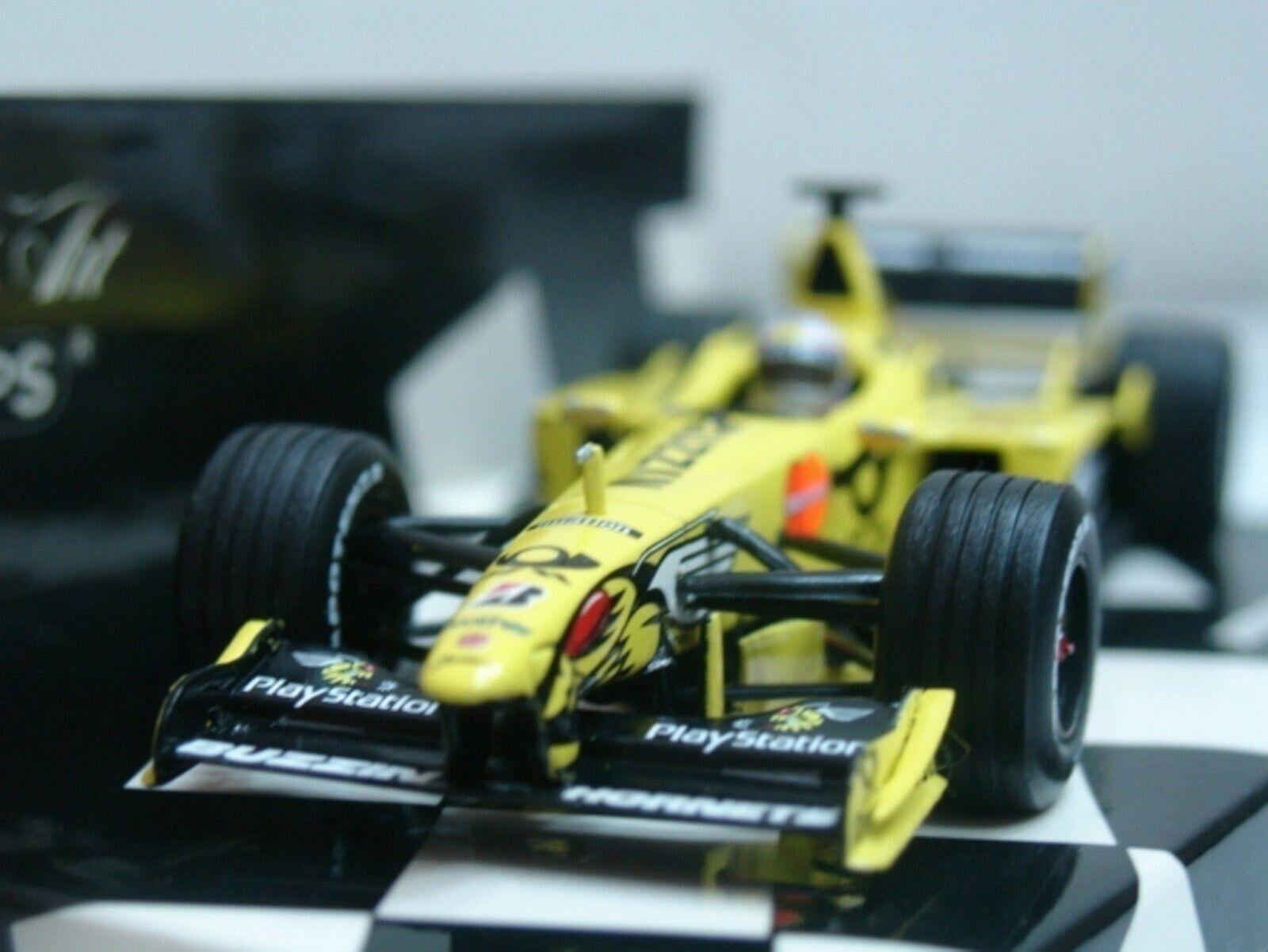 Wow extrêmeHommest rare  Jordan EJ10 Mugen Honda Sato Test Jerez 2000 1 43 Minichamps  nouveau sadie