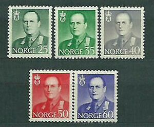Norway - Mail 1962 Yvert 428/32 MH Character