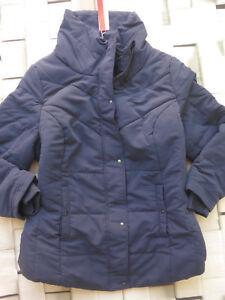 Sheego 56 Grootte 46 Blauw Cape Nieuw Quilted Jacket 201 Parka qxwarSZCq