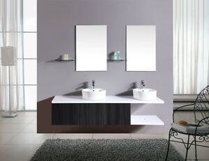 Mobile bagno arredo bagno completo pensile wenge 180cm doppio